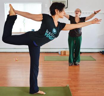 Clarissa Leading Irene in Yoga Class