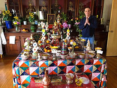 Dan Globus Green Tara Shrine Room at KTD Saka Dawa 2019